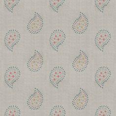 Linen Fabric - Salcombe Blue Malathi - 350