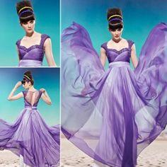 Coniefox Dress // Gradient Purple Lace Net Square Neck Trumpet/Column Elegant Prom Dress - £138.00 Elegant Prom Dresses, Nice Dresses, Evening Dresses, Ombre Wedding Dress, Wedding Dresses, Purple Lace, Hot Dress, Special Occasion Dresses, Pageant