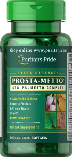 Puritan's Pride Prosta-Metto Saw Palmetto Complex For Men-120 Softgels ** Tried it! Love it! Click the image. : Herbal Supplements