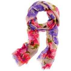 Printed wool scarf ($50) via Polyvore