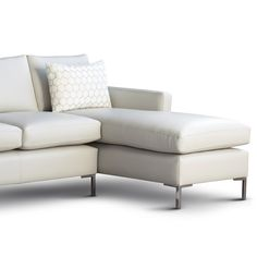 White leather Metro corner sofa from delcor.co.uk