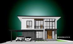 รหัสแบบ: MO-H2-BL2.215.14 บ้านสไตล์: แบบบ้านสองชั้น Modern    สเปคแบบขนาดพื้นที่ จำนวน: 2 ชั้นพื้นที่ใช้สอย: 215 ตารางเมตร ห้องนอน: 3 ห้องขนาดที่ดิน: 64 ตารางวา ห้องน้ำ: 3 ห้องที่ดินกว้าง: 15.50 เมตร ที่จอดรถ: 2 คันที่ดินลึก: 16.50 เมตร      ราคาก่อสร้าง 2.99 ล้าน: CON SPEC 3.63 ล้าน: METAL SPEC House Plans, House Floor Plans, Home Plans