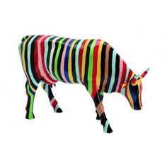 fr - / Striped by Cary Smith / Cow Parade New York 2000 Cow Parade, Balloon Dog Sculpture, Sculpture Art, Mini Cows, Skin Paint, Elephant Parade, Cow Art, Christmas Dog, Animal Paintings