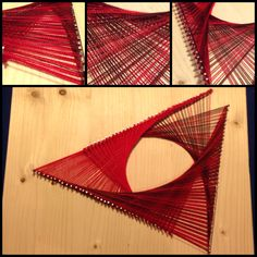 First nail and string art experiment