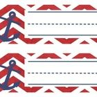 Nautical Themed Nameplates in red and Navy anchors that will be perfect for labeling in your classroom! Print on card stock, write out label, and ...