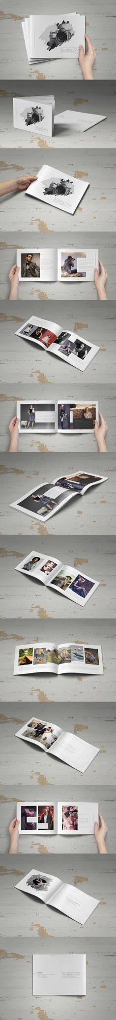 Minimal Photographer Portfolio Brochure 18 Pages Template InDesign INDD
