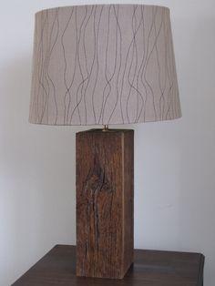 Barn Wood Lamp. $75.00, via Etsy.