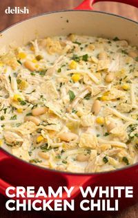 This White Chicken Chili Might Just Beat Out The Classic - Soup Recipes Slow Cooker Recipes, Cooking Recipes, Healthy Recipes, Batch Cooking, Crock Pot Soup Recipes, Healthy Chili, Cooking Ribs, Slow Cooker Soup, Healthy Food