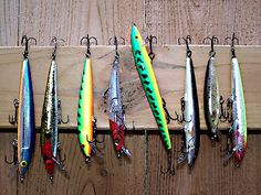 'Fish Lures' by Shelly Harris Best Fishing Boats, Best Fishing Lures, Homemade Fishing Lures, Crappie Fishing, Bass Fishing, Diy Fishing Bait, Fishing Life, Gone Fishing, Fishing Tackle