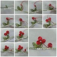 Fleurs en dentelle a l'aiguille - Les créations de Salvina