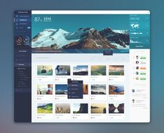 PhotoLytics Dashboard UI by Balraj Chana - Dribbble for web design inspiration added by Daniel perez to 'false' Web And App Design, Design Websites, Web Design Mobile, Pop Design, Ui Ux Design, Design Lab, Intranet Design, Design Concepts, Flat Design