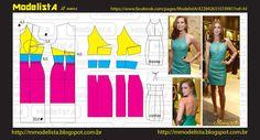 Modelagem de vestido frente única