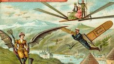 Futuristic postcards: Life in the year 1900 - retro pin Machine Volante, Future Predictions, The Frankenstein, Jules Verne, German Chocolate, Look Vintage, Imagines, Dieselpunk, What Is Life About