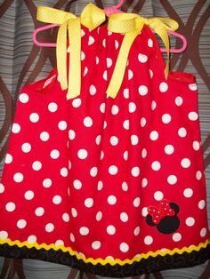 Minnie Mouse Dress by CABCREATIONSHOPPE on Etsy, $22.00