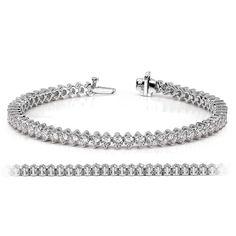 Fantasia Sterling Silver & Palladium Marquise & Round Tennis Bracelet 8siPkjdsI
