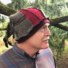Wool Hat, Made from Upcycled Sweaters,