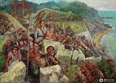 Manchu militia defending the coast during the Opium War