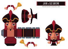 Paper Toys literários - Cantinho da Bruna - Jafar