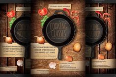 Cooking Lessons Flyer template by Hotpin on @creativemarket
