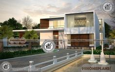 Small Contemporary House Double Floor Home Design Plans Ideas