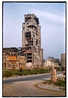 During World War II of Warsaw was destroyed. Dramatic snaps in colour show the centre of the city, including Śródmieście, Old Town and m. Warsaw City, Warsaw Poland, Poland History, Jewish History, Warsaw Uprising, Poland Travel, Krakow, Old City, Tower Bridge