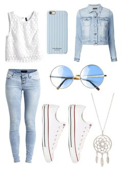 """""""Untitled #28"""" by llaurenmauel ❤ liked on Polyvore featuring Isaac Mizrahi, H&M, Object Collectors Item, Converse and Dolce&Gabbana"""