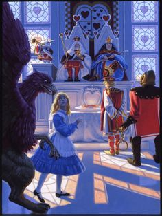 TRIAL OF THE KNAVE OF HEARTS - ALICE IN WONDERLAND BY GREG HILDEBRANDT