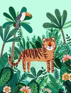 Petit Monkey poster Tiger 50 x 70 cm