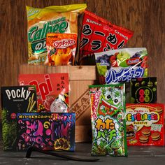 The Snack Sensei Crate. Enjoy with courage and bravery.