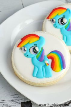 My Little Pony Rainbow Dash Cookies Easy Pin Prick Design Transfer Method Using And Airbrush Or Edible Mist Sprays on Cake Central