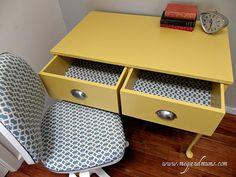 Refurbished desk and chair.
