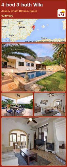 4-bed 3-bath Villa in Javea, Costa Blanca, Spain ►€350,000 #PropertyForSaleInSpain