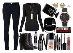 """""""nice"""" by tobias4eaton on Polyvore featuring Balmain, Frame Denim, Charlotte Russe, Danielle Stevens Jewelry, Marc Jacobs, Maybelline, Lord & Berry, NYX, Trish McEvoy and MAKE UP FOR EVER"""