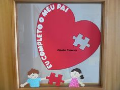 Decoração da porta* dia do pai 2016 Fathers Day Crafts, Valentines, Education, Professor, Diy, Popsicle Stick Crafts, Crafts For Toddlers, Family Day, Mother's Day
