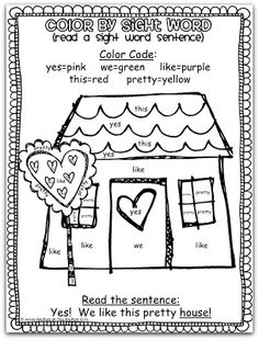 FREE Color by Sight Words!  Coloring, practicing sight words, and reading a sight word sentence!