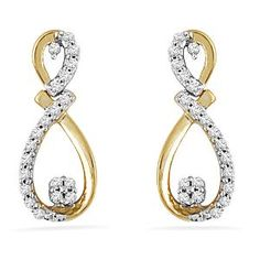 Diamond & Gold Earrings by Jpearls     Product Code: 30517163