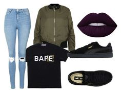 """""""Untitled #67"""" by onlyyc on Polyvore featuring Topshop, A BATHING APE, Puma and Lime Crime"""