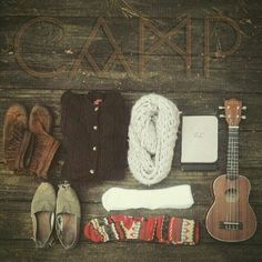 Moccasins and Toms and cardigans and patterned socks. Go camp.