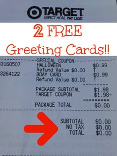 VIDEO: 2 Free Greeting Cards at Target - Super Coupon Lady http://www.supercouponlady.com/2014/09/video-2-free-greeting-cards-target.html/
