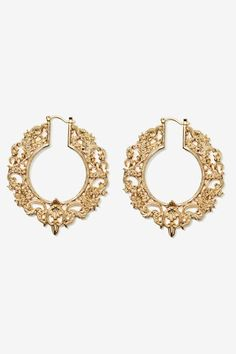 High Society Filagree Earrings - Earrings | Gold | Back In Stock | Accessories
