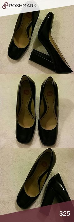 BP Patent Leather Heels Size 7.5 M 4in. Heels..Preowned BP Shoes Heels