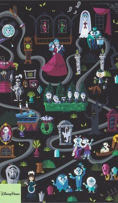 The Haunted Mansion Wallpaper Disney Rides, Disney Parks, Disney Pixar, Walt Disney, Dreamworks, Disney Phone Wallpaper, Disney Artwork, Disney Posters, Disney Halloween