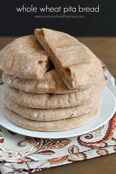Make pita bread at home! This pita bread recipe is super easy, very healthy and tastes so much better than the store-bought.