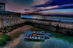 Coliemore Harbour at Dusk Dusk, Dublin, Places, Beautiful, Pretty, Lugares