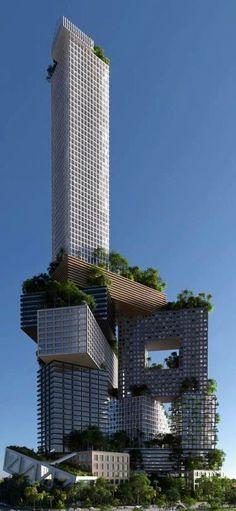 RosamariaGFrangini | Architecture Buildings | Grattacielo (m) (Skyscraper)… #futuristicarchitecture