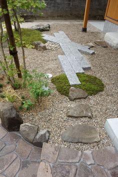 自然石で統一した純和風外構