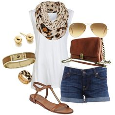 """""""Summer Leopard Print"""" by august29 on Polyvore"""