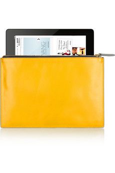 Two-tone leather pouch  by Iris & Ink