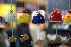 Small bells made of ceramics, Icheon, South Korea
