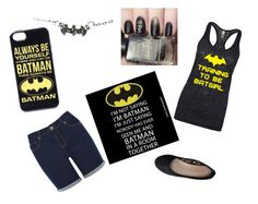 """Batman"" by toriehensley ❤ liked on Polyvore featuring Oasis and Aéropostale"